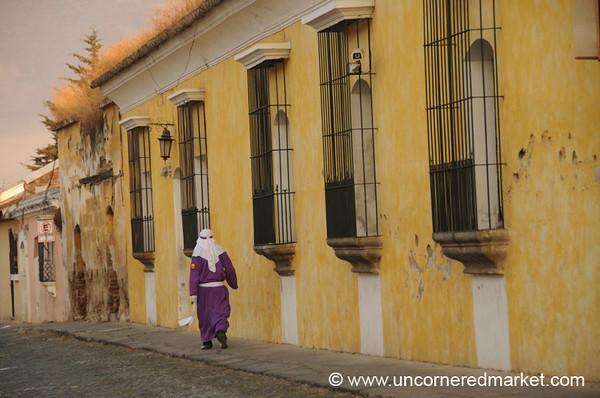 A Lone Cucurucho, Semana Santa - Antigua, Guatemala