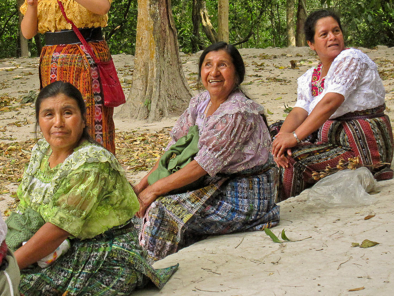 Guatemalan women in traditioanal dress