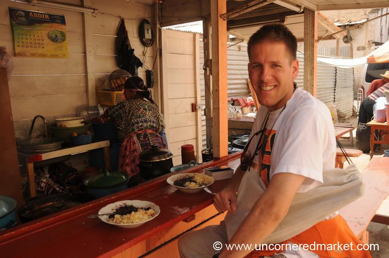 Dan Eating Breakfast - Totonicapan, Guatemala