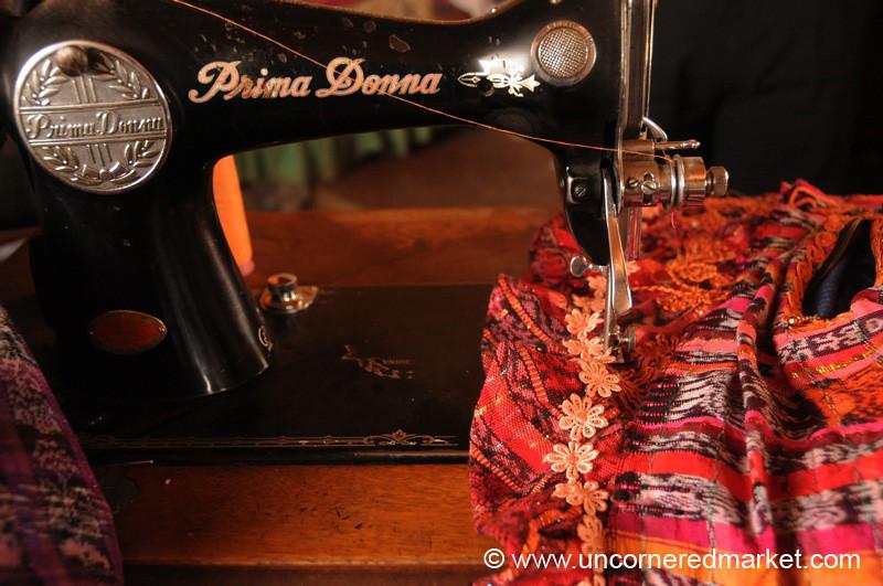 Sewing Machine, Guatemalan Cloth - Totonicapan, Guatemala