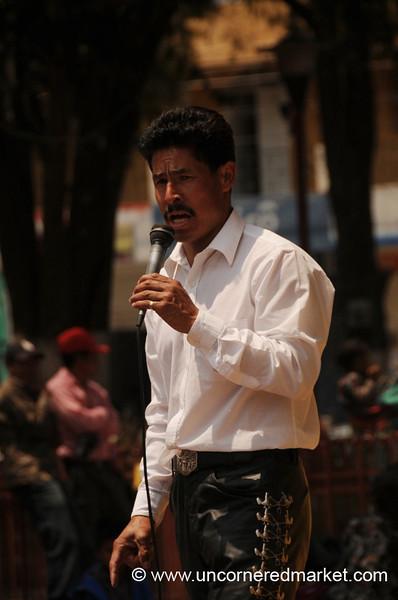Singer at Totonicapan Market, Guatemala