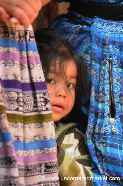 Guatemalan Girl Peeking Out - Totonicapan, Guatemala
