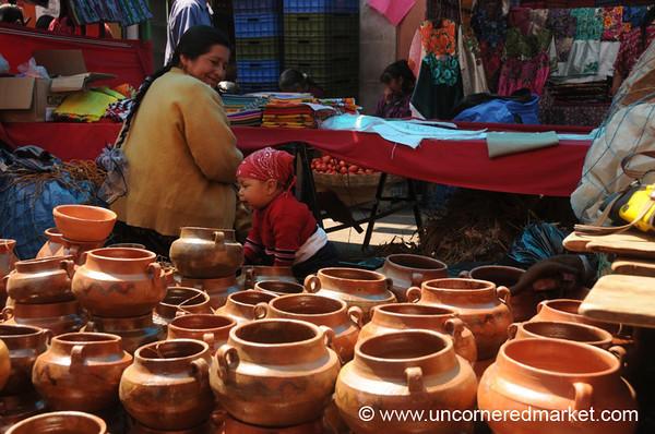Ceramics at Totonicapan Market, Guatemala