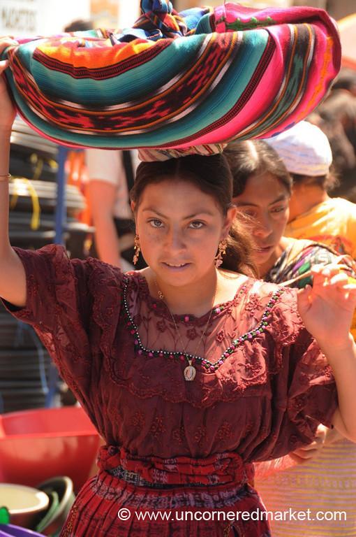 Indigenous Woman at Totonicapan Market, Guatemala