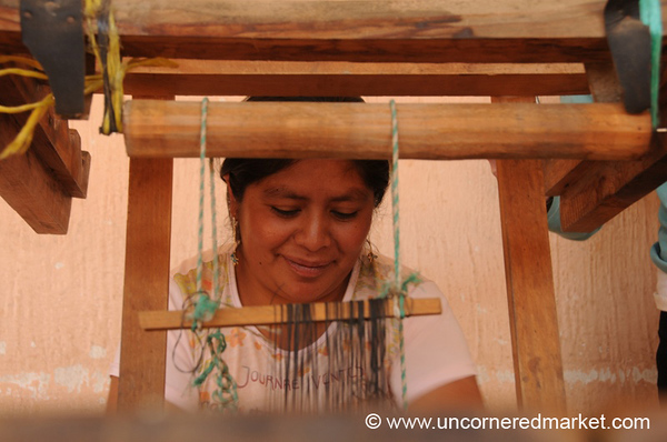 Woman Weaving on Loom - Paraje Xecaje, Guatemala