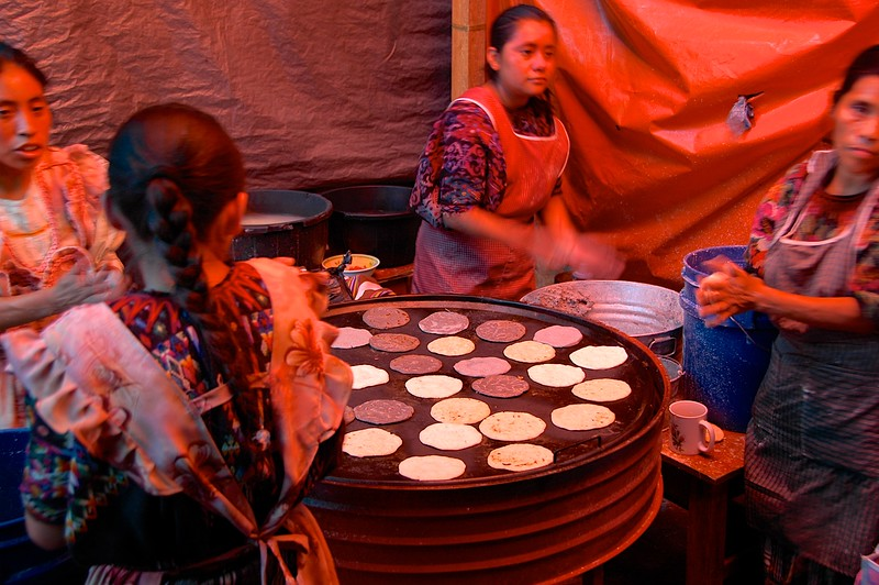 tortillas being made in front of you,