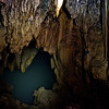 Underground river in a cave.
