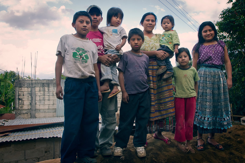 The family who is helping to build the house for themselves