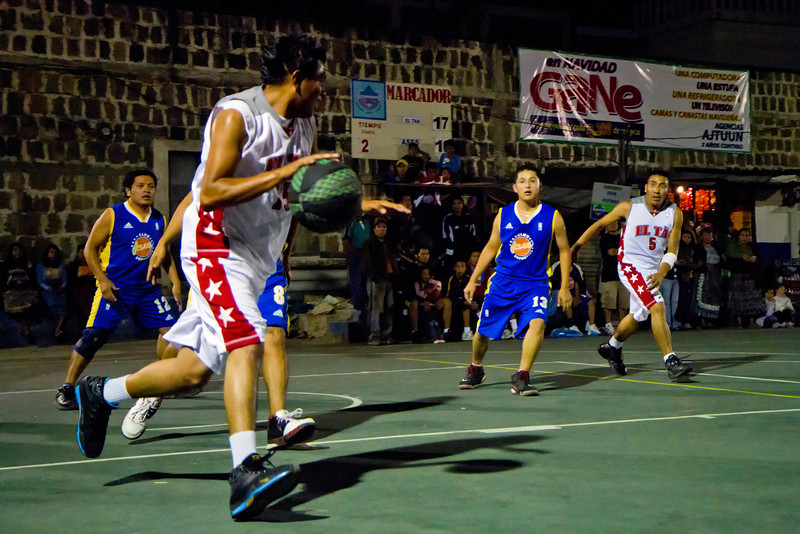 Night basketball in San Pedro la Laguna.