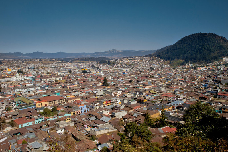 The city of Xela from above.