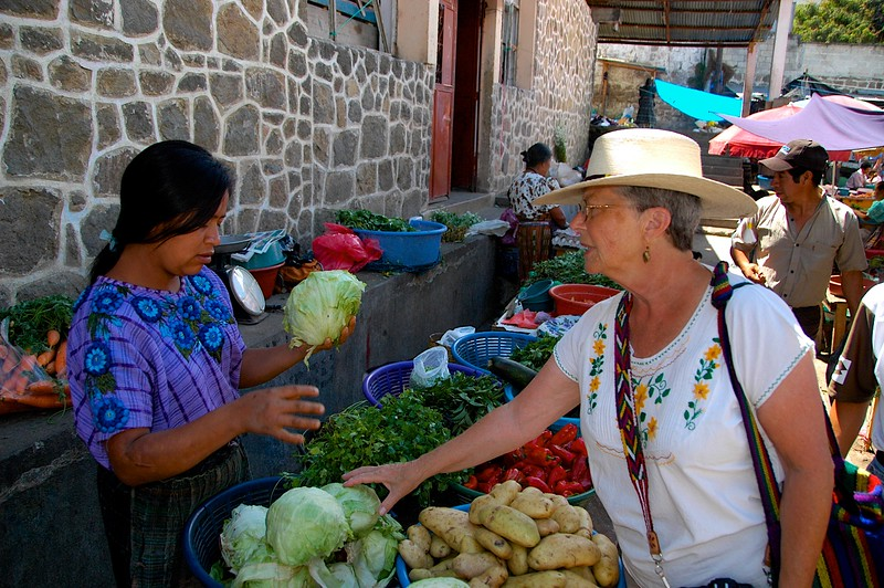 We wandered through a lovely village and brought fresh produce...