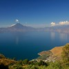 Near Lake Atitlan is a lovely crater lake, the remains of one of the volcanos in the area.