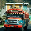 "The ""chicken busses"" carried a lot of the people back and forth between the towns; we saw lots of them,"