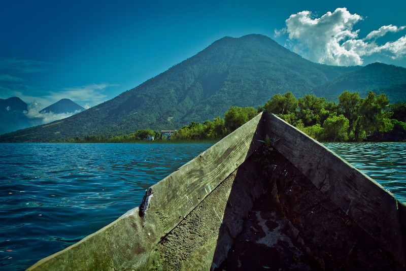View of Volcano San Pedro from my canoe.