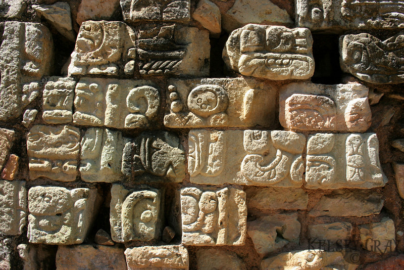 Decorative bricks on one of the temples.