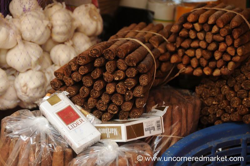 Tobacco, Cigarette and Garlic - Copan Ruinas, Honduras