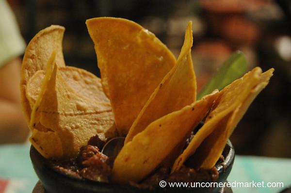 Honduran Food, Anafres - Copan Ruinas, Honduras