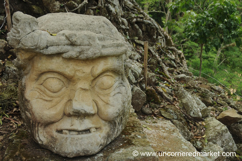 Wise, Old Man Stela - Copan Ruinas, Honduras