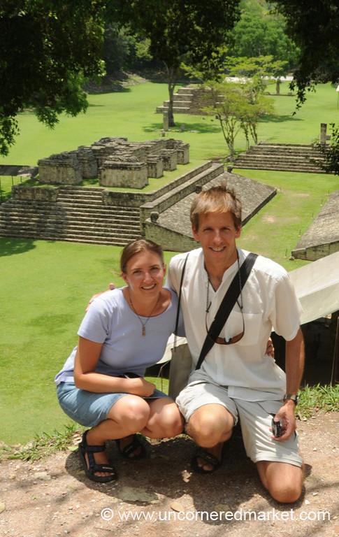 Audrey and Dan at Copan Ruins - Copan Ruinas, Honduras
