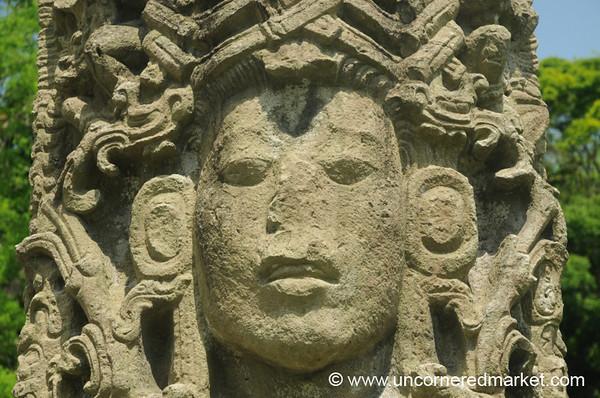 Solemn Face, Mayan Ruins - Copan Ruinas, Honduras