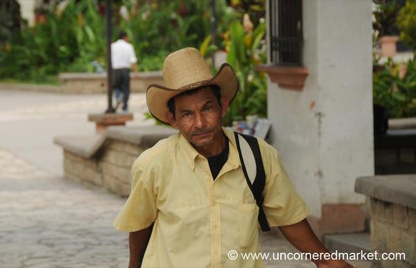 Honduran Man in Hat - Copan Ruinas, Honduras