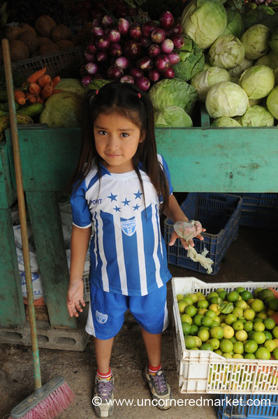 Young Honduran Football Fan - La Esperanza, Honduras
