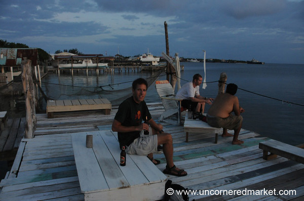 Babalu Bar, Drinks at Dusk - Utila, Honduras