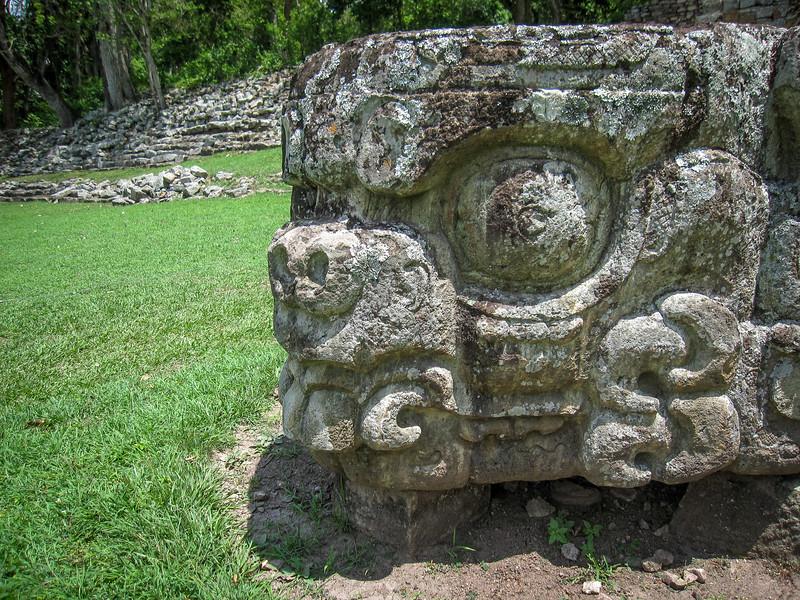 Copan ruins carving