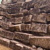 but we also came across sections of blocks waiting to be put into place.