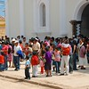 We arrived in the large town of La Esperanza just as church was letting out on Palm Sunday,