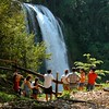 We wandered on, visiting Pulhapanzak Falls, both from up on top...