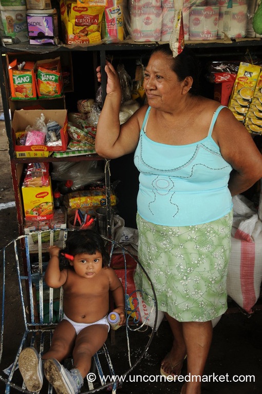 Big Chair, Small Girl - Masaya, Nicaragua