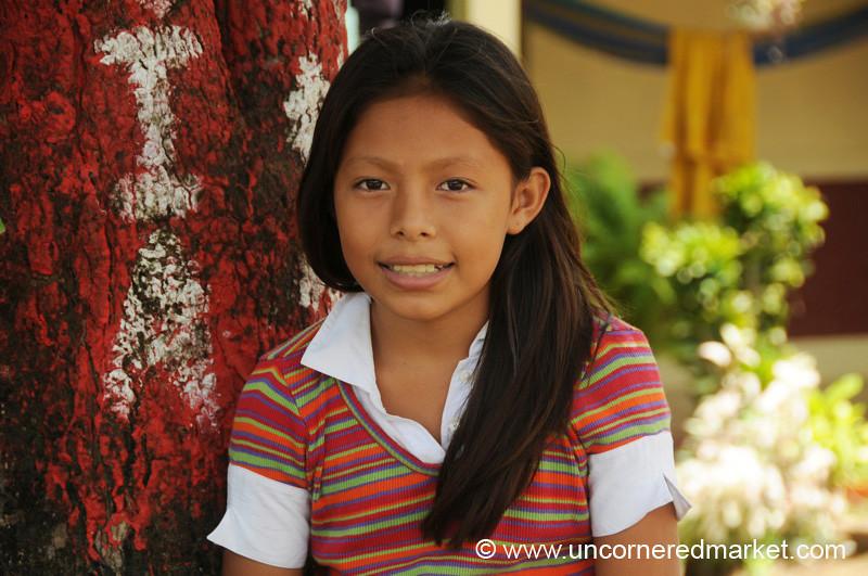 Shy Smile - Masaya, Nicaragua