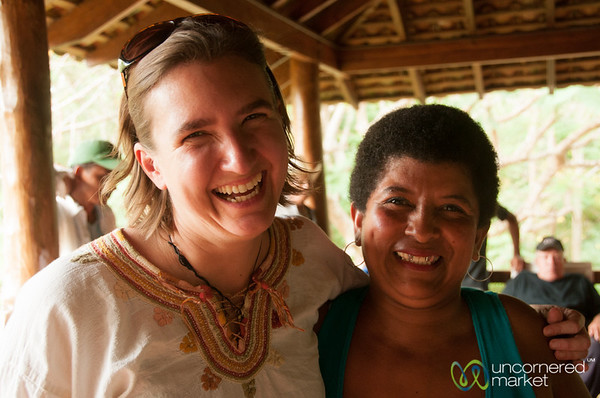 Audrey with a Local Nicaraguan - Morgan's Rock