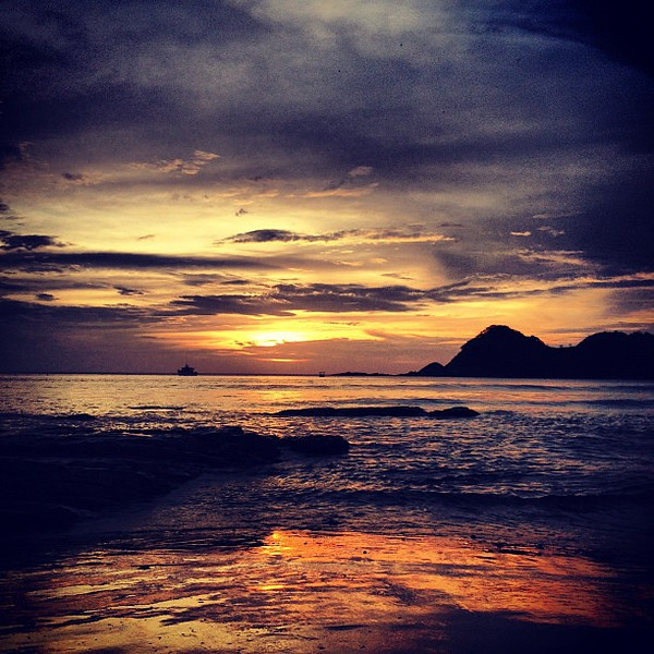 The #sunset we've been waiting for.  Have a great weekend. #Nicaragua #morgansrock