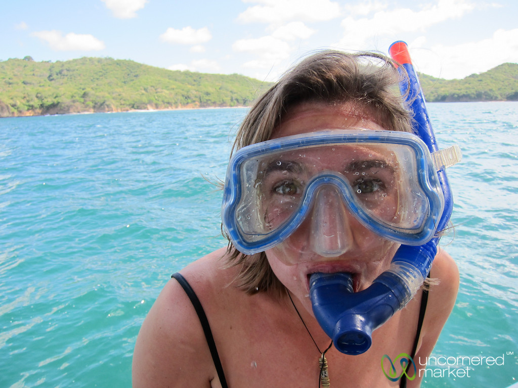 Audrey Goes Snorkeling - Morgan's Rock, Nicaragua