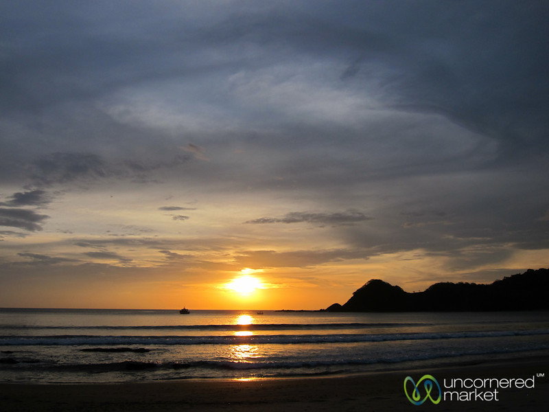 Sunset Over Pacific Island - Morgan's Rock, Nicaraguat