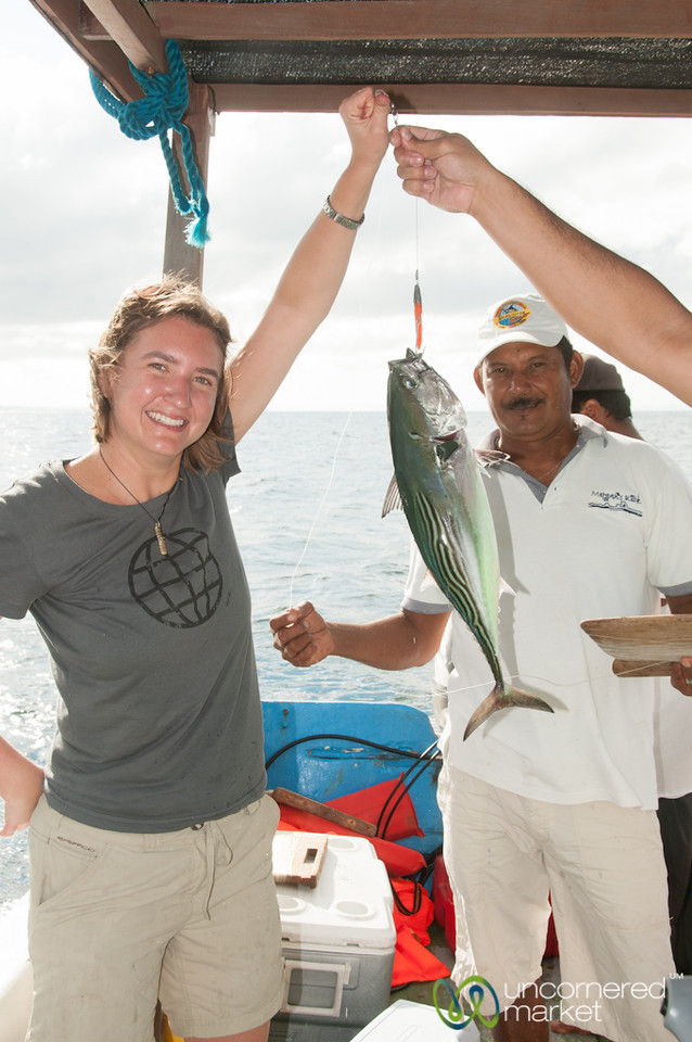 Audrey Catches Her First Tuna - Morgan's Rock, Nicaragua