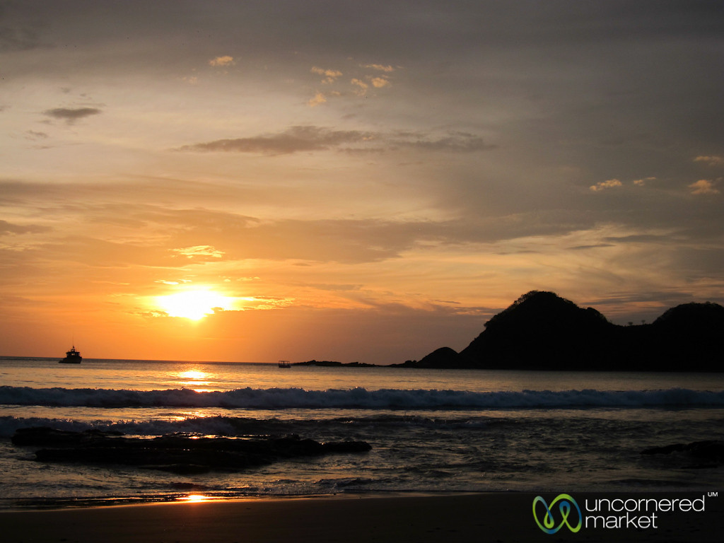 Sunset Over Pacific Ocean - Morgan's Rock, Nicaraguat
