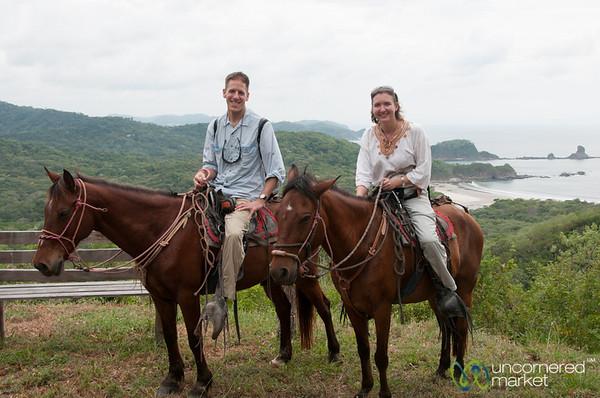 Dan and Audrey on Horseback - Morgan's Rock, Nicaragua