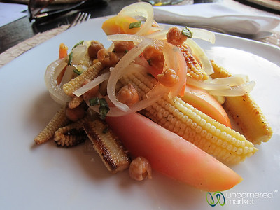 Baby Corn & Chickpea Salad - Jicaro Ecolodge, Nicaragua