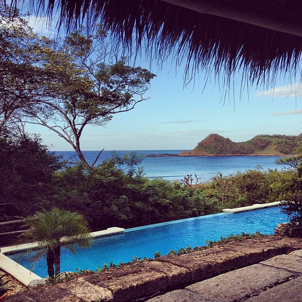 The view from my breakfast. Playa Ocotal overlook, Morgan's Rock #Nicaragua