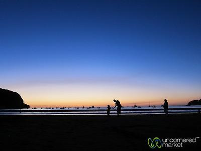 Families Play on Beach at Sunset - San Juan del Sur, Nicaragua