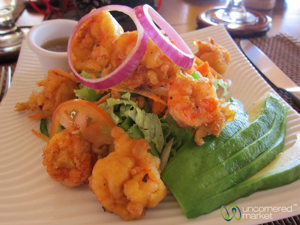 Tempura Shrimp Salad at Morgan's Rock, Nicaragua