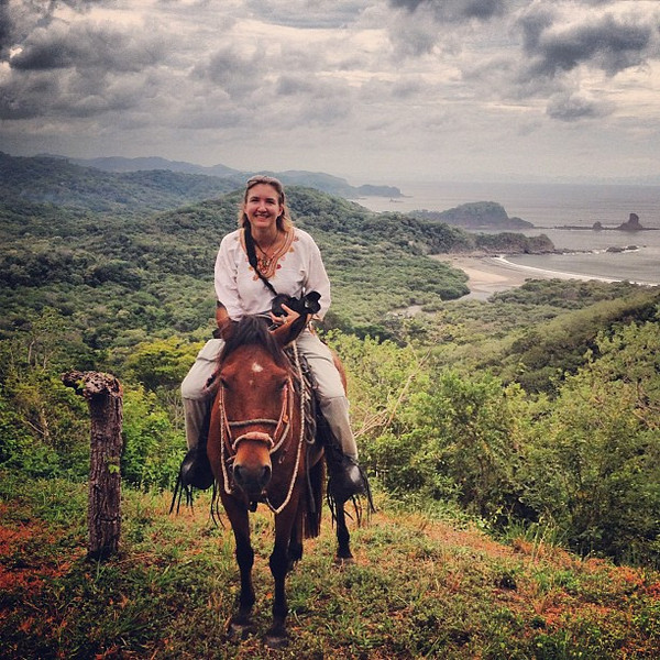 Audrey takes to the hills on horseback, #Nicaragua #morgansrock
