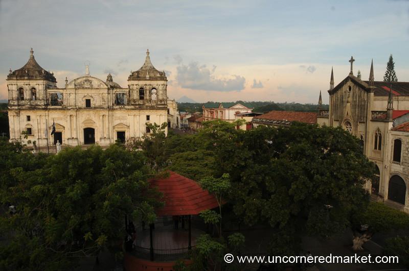 Leon's Main Square - Nicaragua