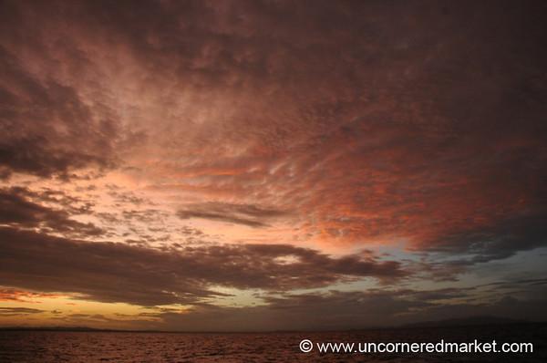 Wild Sunset over Lake Nicaragua - Isla de Ometepe, Nicaragua