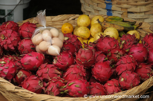 Dragonfruit and Some Eggs - Granada, Nicaragua