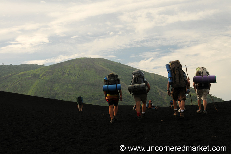 Trekking to Cerro Negro Volcano, Nicaragua