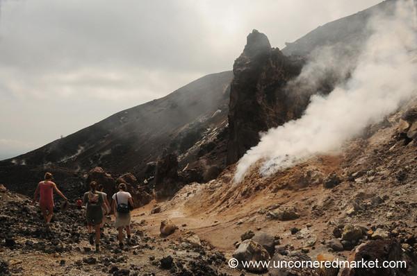 Cerro Negro Volcano Crater - Nicaragua